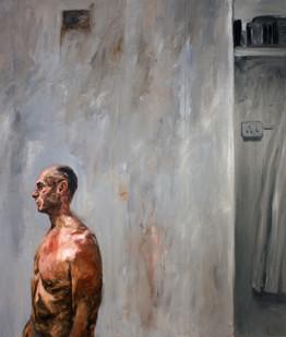 Johann Louw | Gary-Halflyf met Fragment | 2012 | Oil on Board | 245 x 200 cm