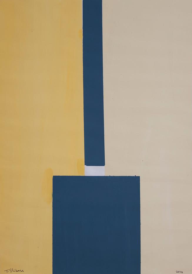 Themba Shibase | Untitled | 2014 | Acrylic Paint on Paper | 70 x 50 cm