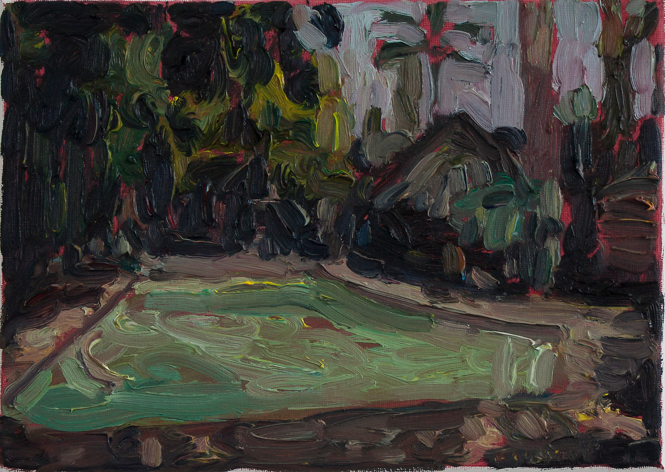 Anton Karstel | Property (Faerie Glen) | 2014 | Oil on Canvas | 21 x 29 cm