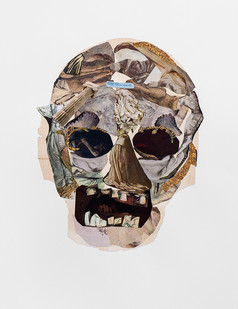 Kate Gottgens   Vanitas VI (Till the end)   2020   Collage on Paper   105.5 x 75 cm