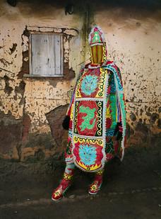 Leonce Raphael Agbodjélou | Egungun Masquerades VII | 2015 | Pigment Ink on HP Premium Satin Photographic Paper | 202 x 150 cm | Edition of 10 + 2 AP