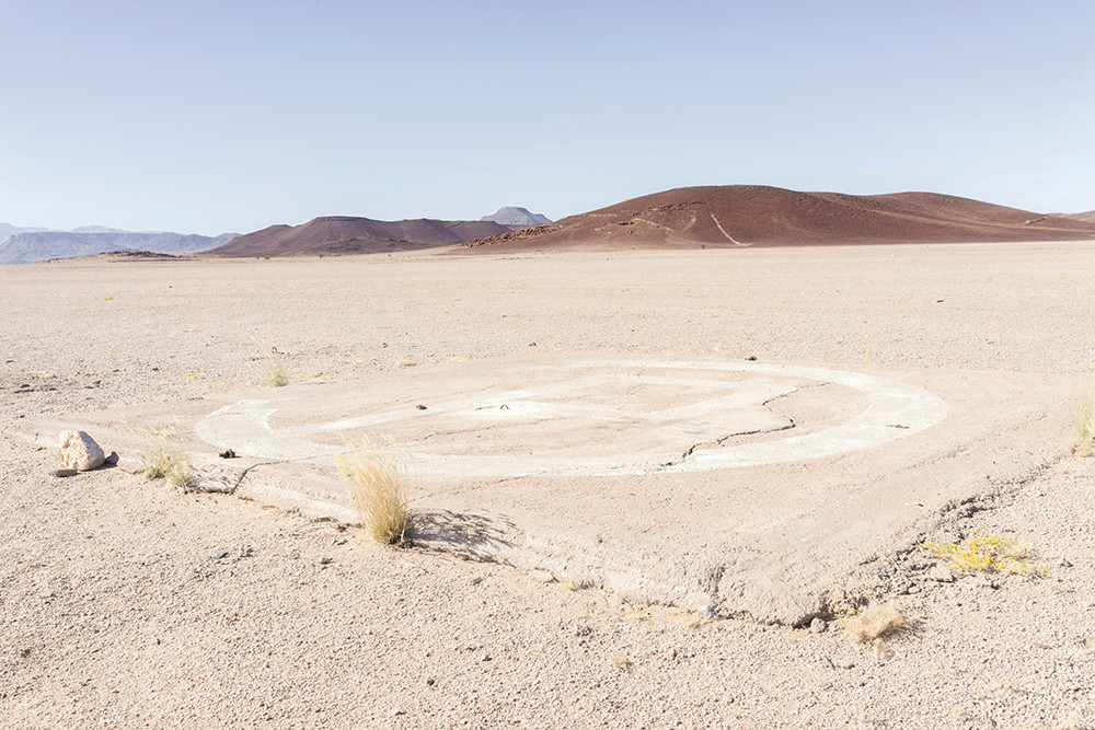 Margaret Courtney-Clarke   Helicopter Pad in Copper Valley, Messum Terrace, Namibia   2014   Giclée Print on Hahnemühle Photo Rag Paper   87.5 x 112 cm   Edition of 6 + 2 AP