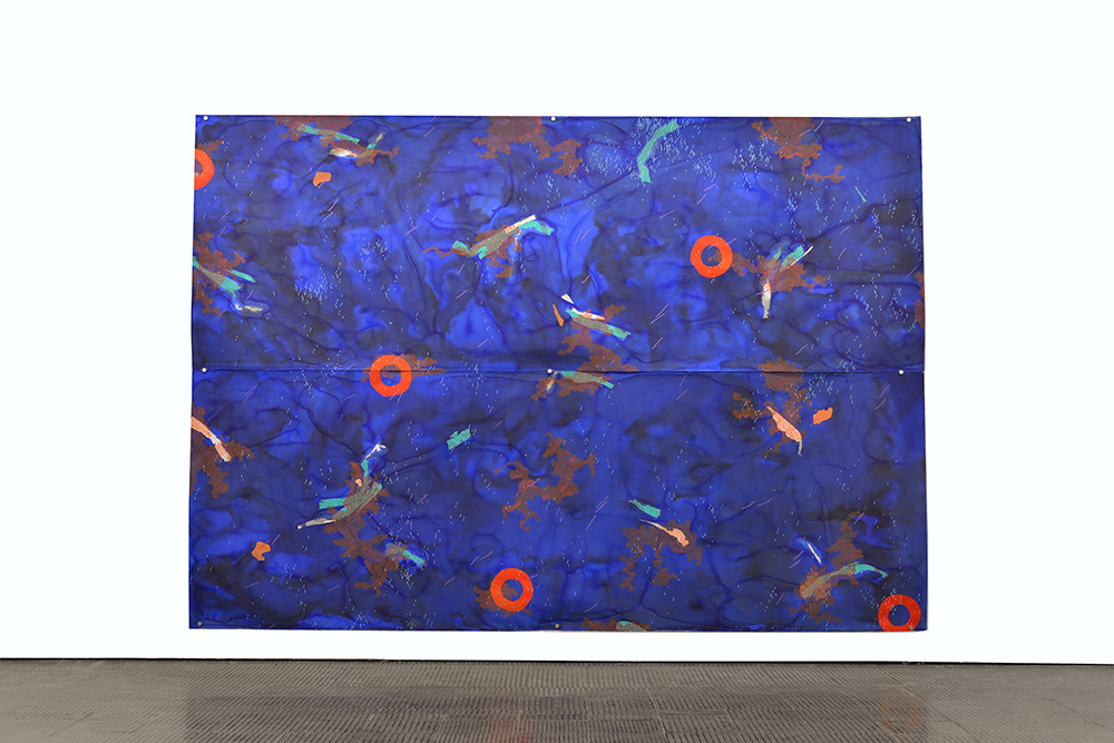 Mongezi Ncaphayi | Asteral Blues II | 2017 | Indian Ink and Mixed Media on Paper | 280 x 397 cm