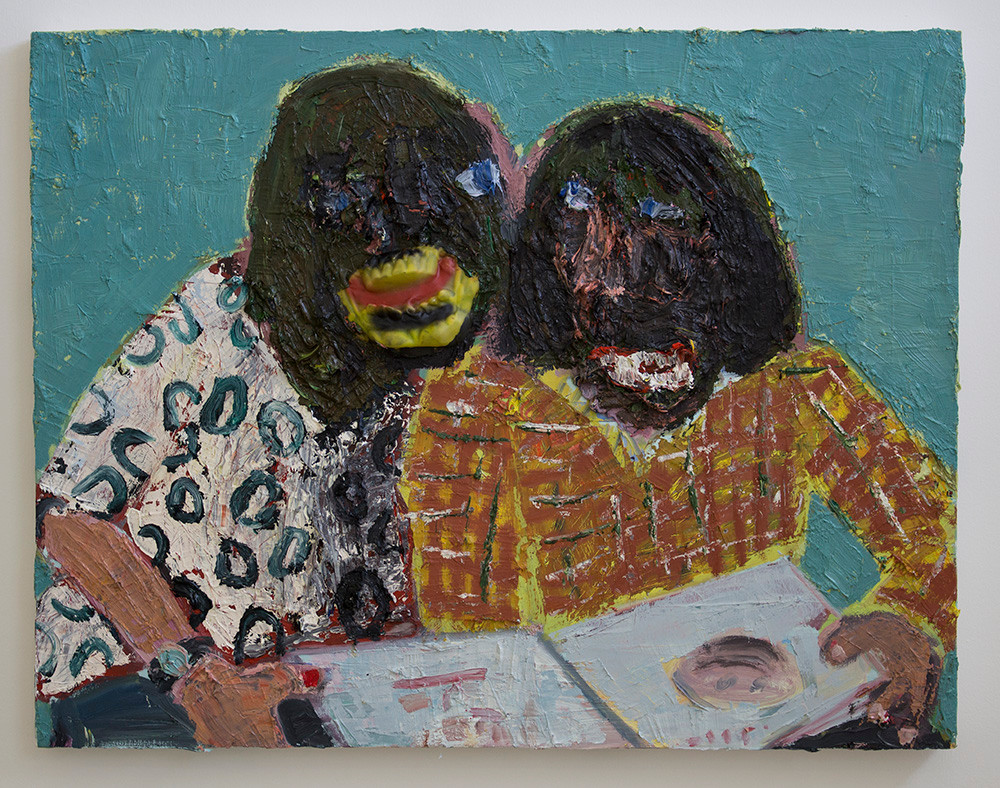 Georgina Gratrix | The Misanthropes | 2015 | Oil on Board | 69 x 90 cm