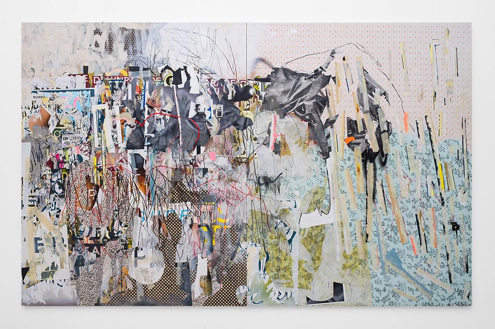 Asha Zero | cnsole logg | 2018 | Acrylic on Board | 205 x 326 cm