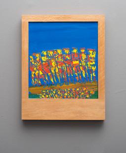 Walter Battiss | People & Fruit | n.d. | Oil on Canvas | 39 x 35 cm