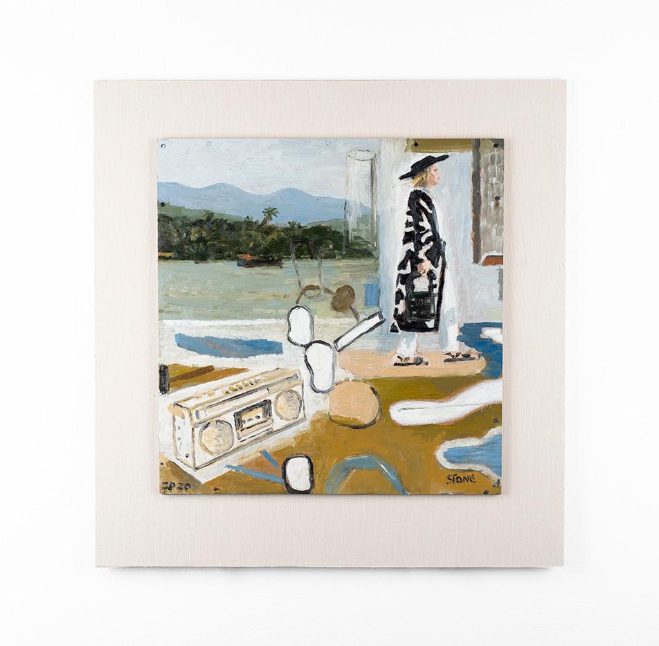 Simon Stone | Holiday | 2020 | Oil on Cardboard | 34 x 33 cm