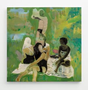 Kate Gottgens | Picnic | 2018 | Oil on Canvas | 76 x 75 cm
