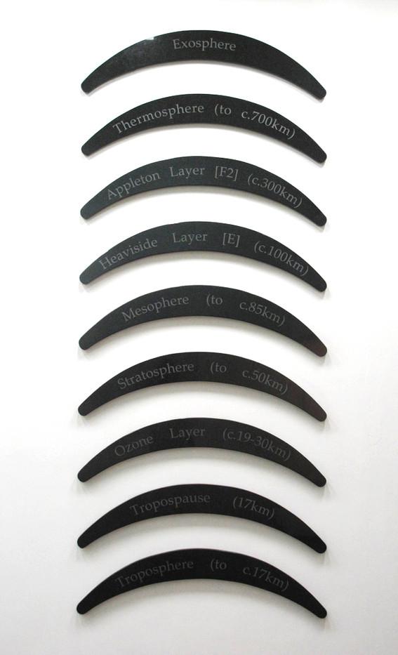 Willem Boshoff | Slices of Air | 2009 | Belfast Black Granite | Size Variable