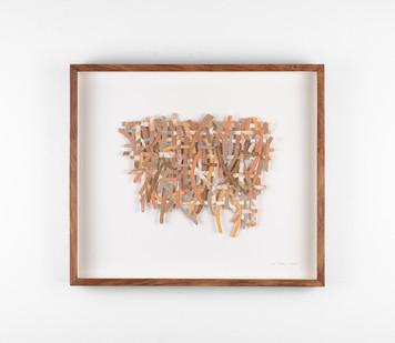 Jo Roets | Variação | 2020 | Air-Drying Clay | 35.5 x 41 x 3.5 cm