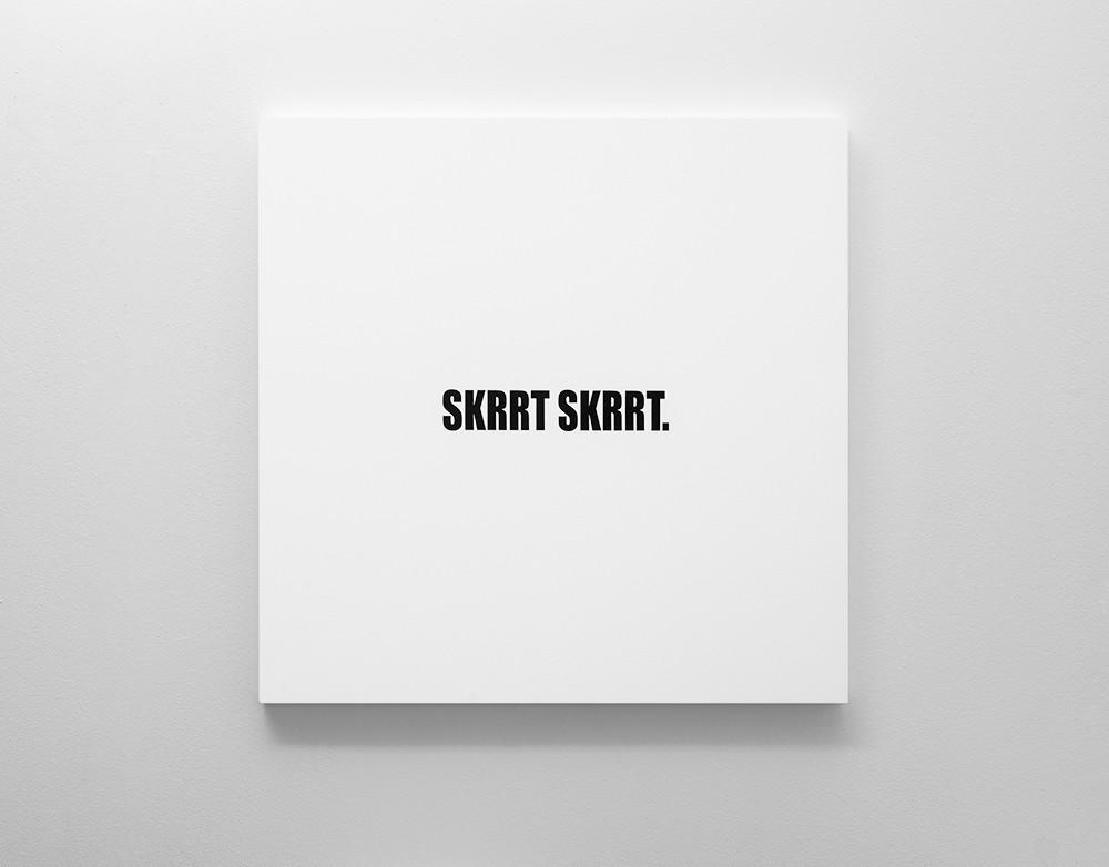 Ed Young | SKRRT SKRRT. | 2018 | Oil on Canvas | 100 x 100 cm