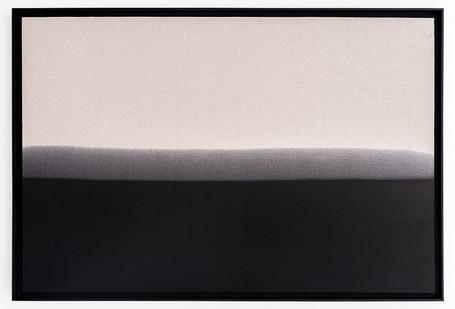 Alexandra Karakashian | Passing Through VIII | 2019 | Used Motor Oil on Canvas, Primed on Reverse | 106 x 156 x 6 cm