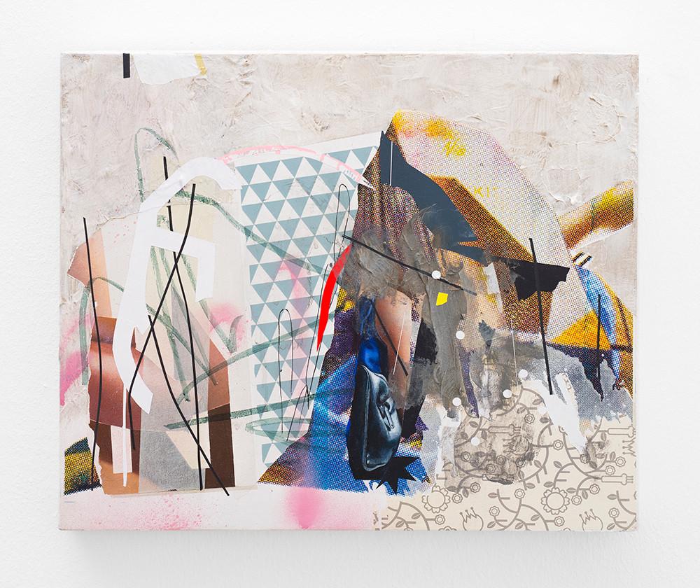 Asha Zero | nnpm package | 2018 | Acrylic on Board | 36 x 42 cm