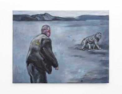 Johann Louw | Te voet; skemer | 2020 | Oil on Canvas | 102 x 135 cm