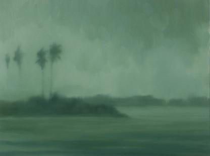 Jake Aikman | S10.317, E120.422 (Palm Point) | 2013 | Oil on Canvas | 30 x 40 cm