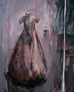 Johann Louw   Rooi Rok   2015   Oil on Canvas   246.5 x 200 cm