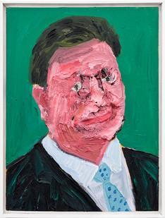 Georgina Gratrix | Man in Spotty Tie | 2019 | Oil on Canvas | 60 x 40 cm