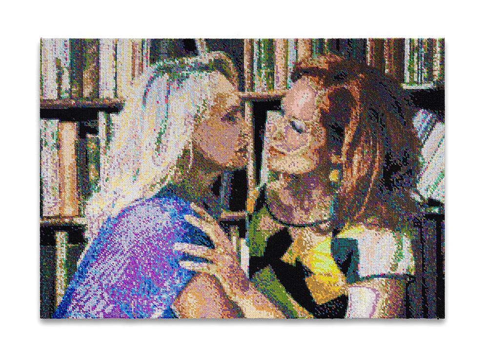 Frances Goodman | A Moment | 2020 | Hand-Stitched Sequins on Canvas | 80 x 112 x 5 cm