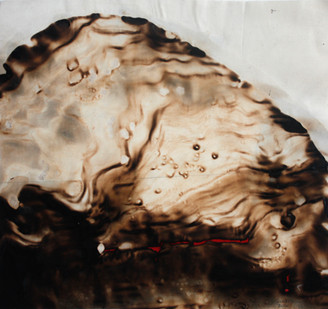 Sandile Zulu | Shard of Archetype Form 5 | 2012 | Fire, Water, Air and Earth on Canvas | 58 x 60 cm