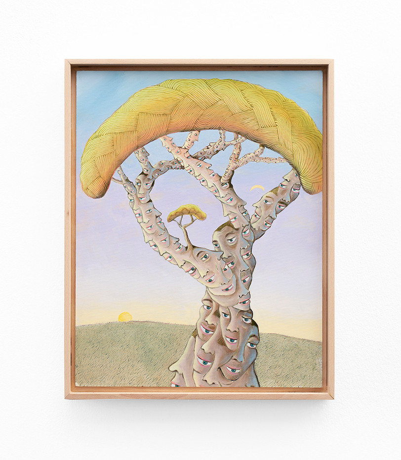 Marlene Steyn | the tree of wisdom teeth | 2020 | Acrylic on Canvas | 44.5 x 35 cm