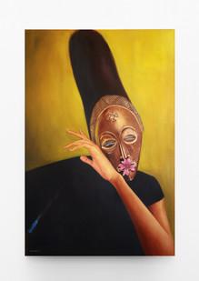 Mfundo Mthiyane   Songs of Asase Yaa 1   2021   Oil on Canvas   108.5 x 72 cm