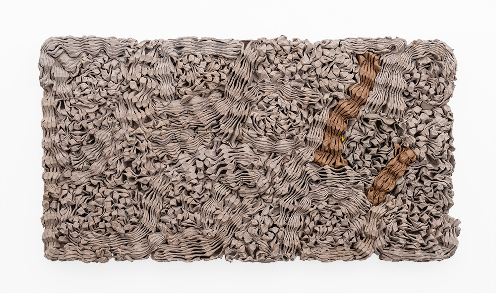 Wallen Mapondera | Tuck Shop 3 | 2019 | Egg Crates | 60 x 112 x 4.5 cm
