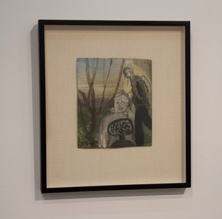 Simon Stone   The Hike   2014   Oil on Cardboard   21 x 17.5 cm