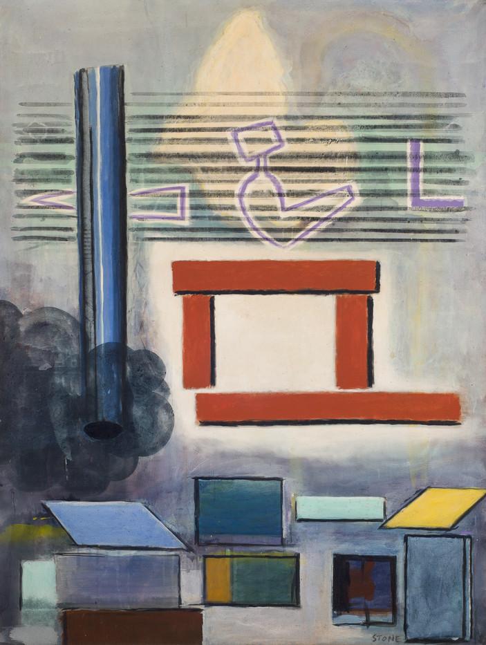 Simon Stone | Construction | 1987 | Acrylic on Canvas | 161 x 120 cm