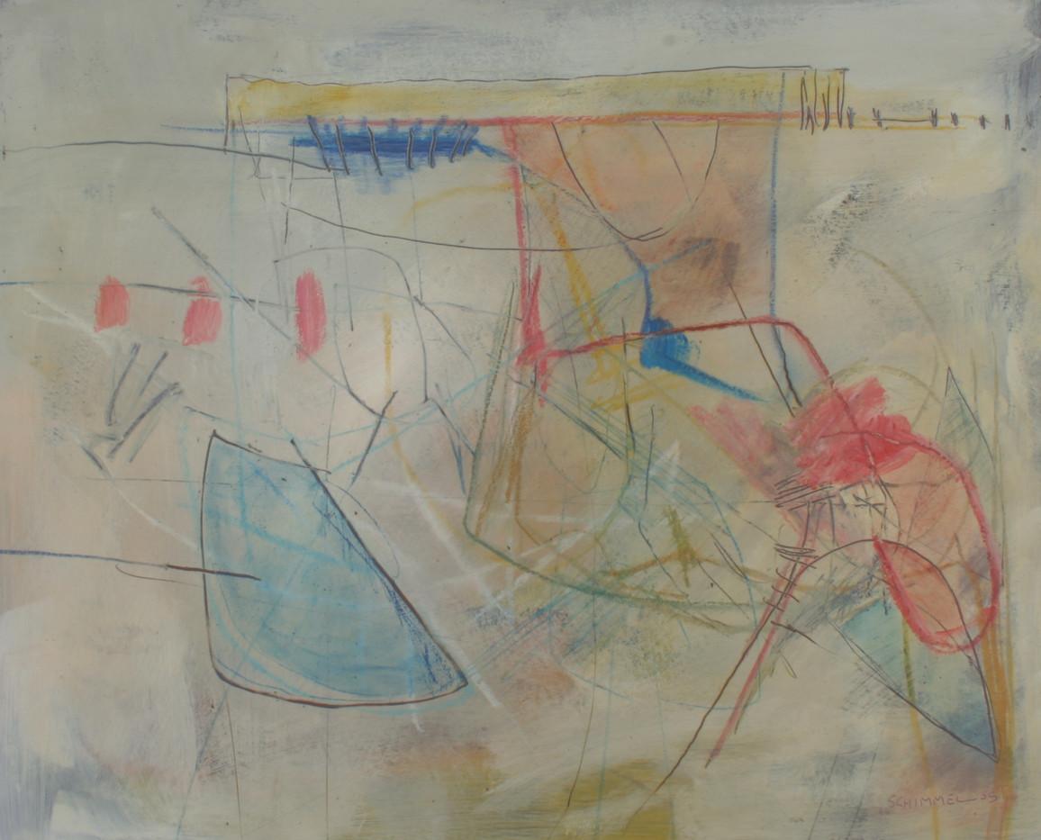 Fred Schimmel | Departure | 2005 | Mixed Media on Board | 63 x 69 cm