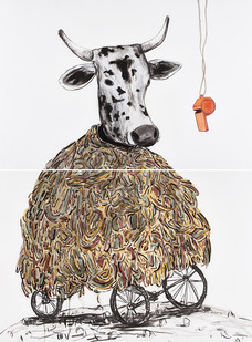 Colbert Mashile | Mollie's Lament | 2015 | Mixed Media on Paper | 153 x 113.5 cm