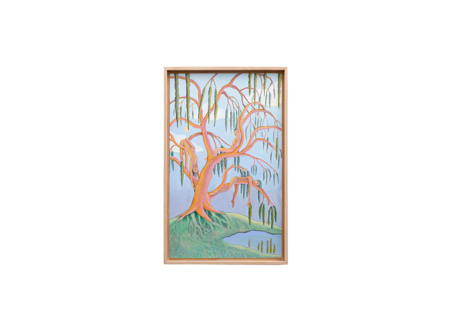 Marlene Steyn | we will...oh willow! | 2020 | Acrylic on Canvas Board | 50 x 30 cm