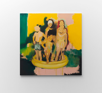Kate Gottgens | Saturday Sun | 2017 | Oil on Canvas | 150 x 150 cm