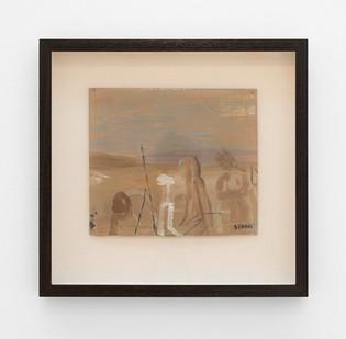 Simon Stone | Dusty Landscape | 2017 | Oil on Cardboard | 28 x 25.5 cm