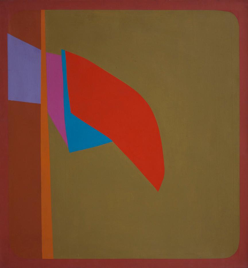 Trevor Coleman | Red Signal | c. 1973-1974 | Acrylic on Canvas | 90.5 x 95 cm