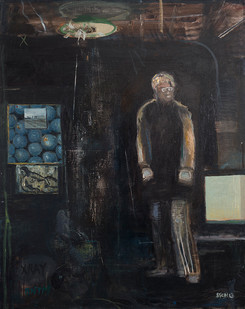 Simon Stone   A Moment in a Dark Room   2016   Oil on Canvas   117 x 93 cm