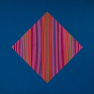 Trevor Coleman | Spacial | 1971 | Acrylic and Mixed Media on Canvas | 122 x 122 cm