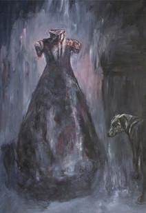 Johann Louw   Rok met Hond   2015   Oil on Canvas   278 x 199 cm