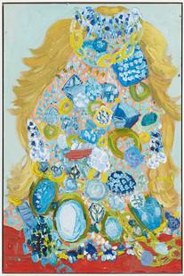 Georgina Gratrix | Jewel Face | 2014 | Oil on Board | 120 x 80 cm