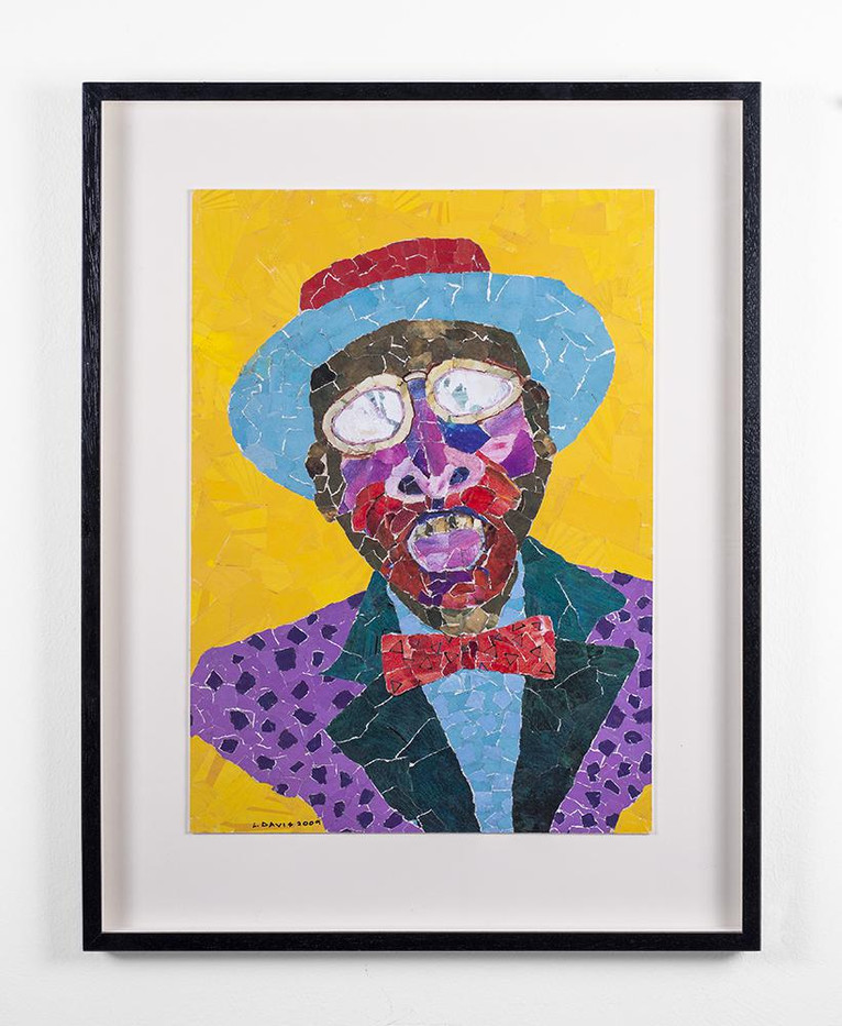 Lionel Davis | Mask (from the Masquerade Series) | 2009 | Mixed Media and Collage on Paper | 57 x 40.2 cm