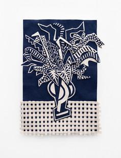Jody Paulsen | Midnight Blue and Ivory IV | 2020 | Felt Collage | 82 x 64 cm