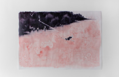 Ruby Swinney | Communion | 2016 | Oil on Tracing Paper | 69 x 93 cm