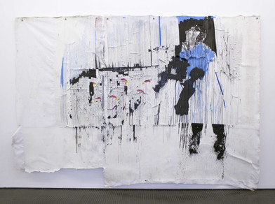 Gareth Nyandoro | Huku-pano | 2016 | Ink on Paper Mounted on Canvas | 237 x 335 cm