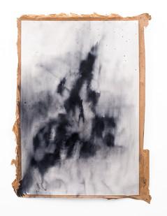 Alexandra Karakashian | Symptom 'Sketch' II | 2019 | Oil on Sized Paper | 100 x 70 cm