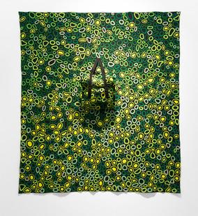 Jody Paulsen | Mirror Man (Green) | 2016 | Felt Collage | 188 x 168 cm
