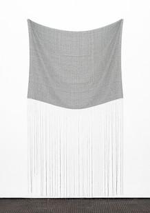 "Bonolo Kavula | ""Tuelo"" | 2020 | Punched Canvas, Acrylic, Thread | 252 x 140 cm"