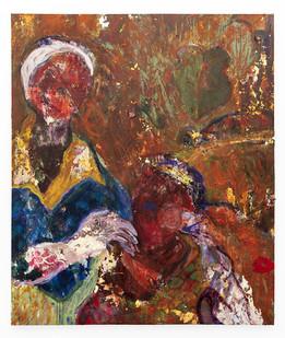Mostaff Muchuwaya   Hanzadzi Dzangu   2019   Acrylic and Glue on Canvas   171 x 144 cm