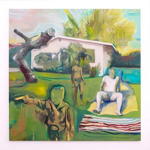 Kate Gottgens   Vulturous Boredom   2021   Oil on Canvas   150 x 150 cm