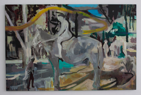 Kate Gottgens | New Territory | 2014 | Oil on Canvas | 135 x 205 cm