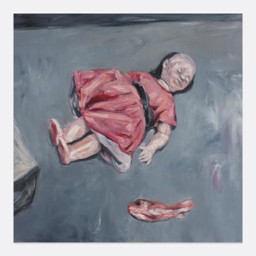 Johann Louw | Pop en Vis | 2013 | Oil on Plywood | 144.5 x 122 cm