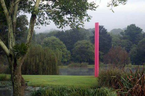 Ruann Coleman | Pole I | 2015 | Painted Steel I-Beam | 600 cm
